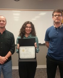 Amanda wins honourable mention for her Biology Colloquium talk!!